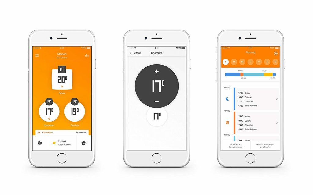 Aplicación móvil netatmo para valvulas inteligentes wifi